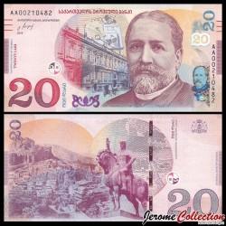 GEORGIE - Billet de 20 Lari - 2017