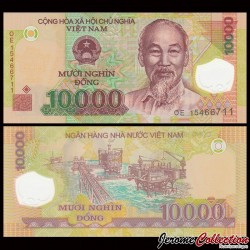 VIETNAM - Billet de 10000 Dong - Polymer - 2015