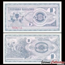 MACEDOINE DU NORD - Billet de 10 Denari - 1992 P1a