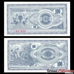 MACEDOINE DU NORD - Billet de 100 Denari - 1992 P4a
