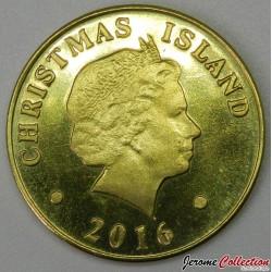 ILE CHRISTMAS - PIECE de 50 Cents - Pirogue traditionelle - 2016