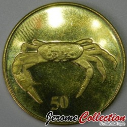 ILE CHRISTMAS - PIECE de 50 Cents - Crabe - 2016