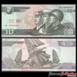 C0REE DU NORD - Billet de 10 Won 2002 - SPECIMEN