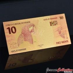 BRESIL - Billet de 10 Reals - Perroquet - Doré - 2010 BRESIL10- 24k