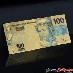 BRESIL - Billet de 100 Reals - Poissons - Doré - 2010