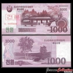 C0REE DU NORD - Billet de 1000 Won - 2008 - SPECIMEN