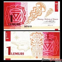 LEMURIA - Billet de 1 Lemuri - Méduse - 2013