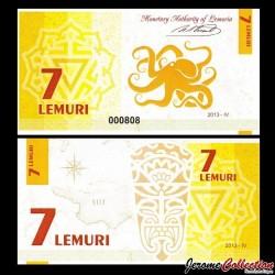 LEMURIA - Billet de 7 Lemuri - Pieuvre - 2013