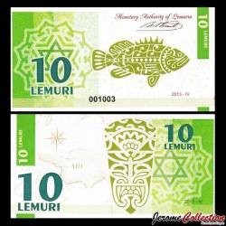LEMURIA - Billet de 10 Lemuri - Poisson - 2013