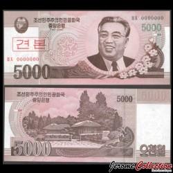 COREE DU NORD - Billet de 5000 Won - 2008 - SPECIMEN P66s