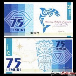 LEMURIA - Billet de 75 Lemuri - Dauphin - 2013