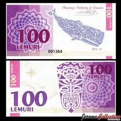LEMURIA - Billet de 100 Lemuri - Baleine - 2013