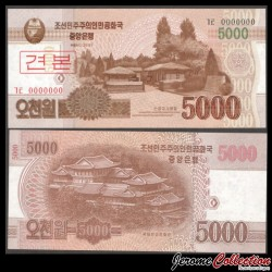 C0REE DU NORD - Billet de 5000 Won - 2013 - SPECIMEN