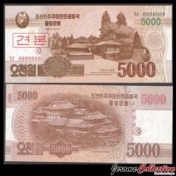 COREE DU NORD - Billet de 5000 Won - 2013 - SPECIMEN P67s