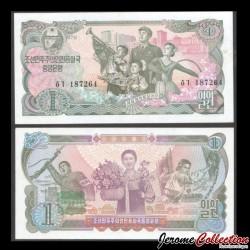 COREE DU NORD - Billet de 1 Won - 1978 P18b