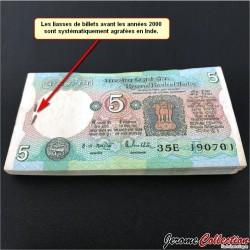 INDE - Billet de 5 Roupies - Lettre B - 1975 / 2002