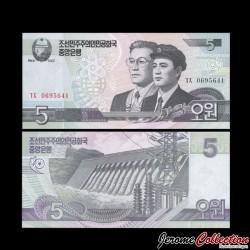 C0REE DU NORD - Billet de 5 Won - 2002