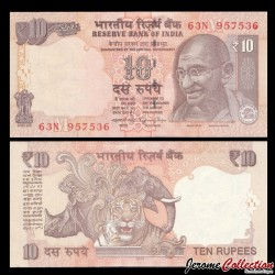 INDE - Billet de 10 Roupies - Mahatma Gandhi - 2014