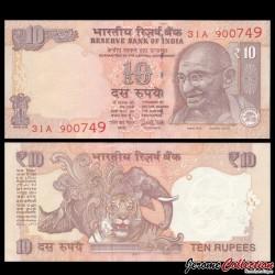 INDE - Billet de 10 Roupies - Mahatma Gandhi - 2017