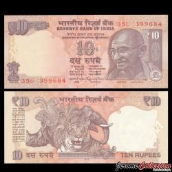 INDE - Billet de 10 Roupies - Mahatma Gandhi - 2015