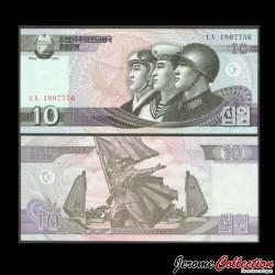 COREE DU NORD - Billet de 10 Won - 2002 P59a