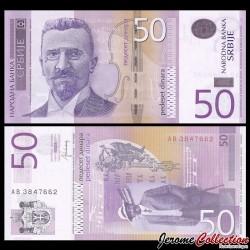 SERBIE - Billet de 50 Dinara - 2014 - Stevan Stojanović Mokranjac
