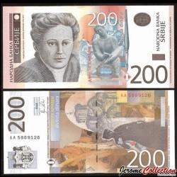 SERBIE - Billet de 200 Dinara - Nadežda Petrović - 2011 P58a