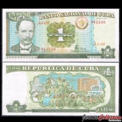 CUBA - Billet de 1 Peso - José Martí - 1995