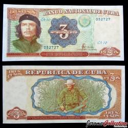 CUBA - Billet de 3 Pesos - Che Guevara - 1995
