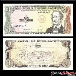 REPUBLIQUE DOMINICAINE - Billet de 1 PESO ORO - 1988