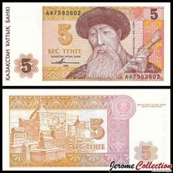 KAZAKHSTAN - Billet de 5 Tenge - 1993