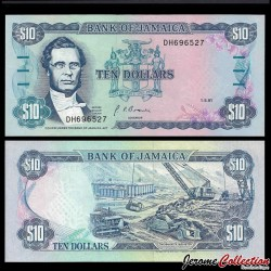 JAMAIQUE - Billet de 10 DOLLARS - George William Gordon - 1.5.1991