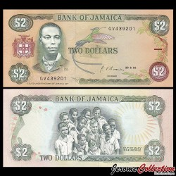 JAMAIQUE - Billet de 2 DOLLARS - Paul Bogle - 29.5.1992 P69d2