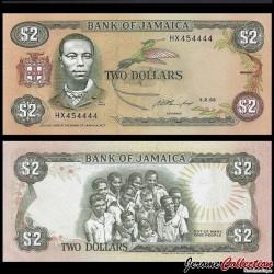 JAMAIQUE - Billet de 2 DOLLARS - Paul Bogle - 1.2.1993 P69e