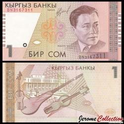 KIRGHIZISTAN - Billet de 1 Som - 1999