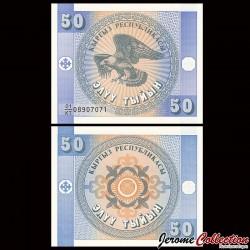 KIRGHIZISTAN - Billet de 50 Tyiyn - 1993