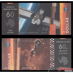 ILE BERKNER - Billet de 1 DOLLAR - Satellite de communication - 2017 Berkner001