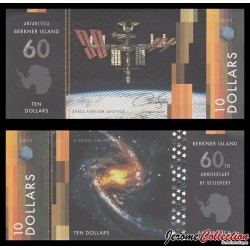 ILE BERKNER - Billet de 10 DOLLARS - Space station shuttle - 2017 Berkner010