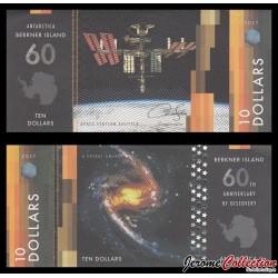 ILE BERKNER - Billet de 10 DOLLARS - Space station shuttle - 2017