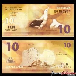 TERRE DE WILKES - Billet de 10 DOLLARS - Albatros hurleur - 2014