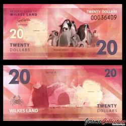 TERRE DE WILKES - Billet de 20 DOLLARS - Manchot empereur - 2014 Wilkers 020
