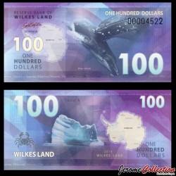 TERRE DE WILKES - Billet de 100 DOLLARS - Baleine bleue - 2014
