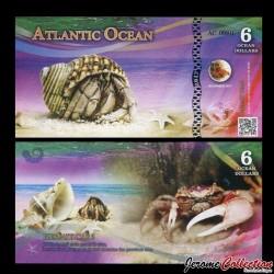ATLANTIC OCEAN - Billet de 6 Ocean DOLLARS - Bernard l'hermite - 2017 0006 OCEAN DOLLAR