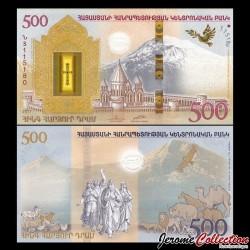 ARMENIE - Billet de 500 DRAM - 2017 - EN LIVRET