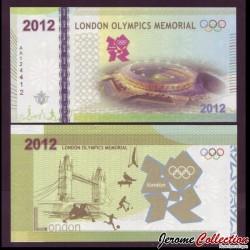 CHINE - Billet commémoratif des Jeux Olympiques de Londres - Version Verte - 2012
