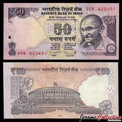INDE - Billet de 50 Roupies - Mahatma Gandhi - 2013 - Lettre L P104b2a