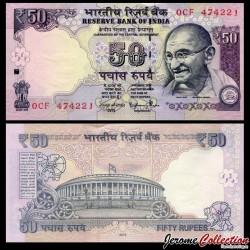 INDE - Billet de 50 Roupies - Mahatma Gandhi - 2015