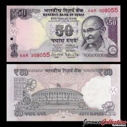 INDE - Billet de 50 Roupies - Mahatma Gandhi - 2017