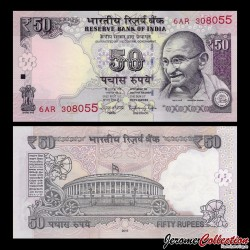 INDE - Billet de 50 Roupies - Mahatma Gandhi - 2016 - Lettre E P104e1a