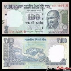 INDE - Billet de 100 Roupies - Mahatma Gandhi - 2016